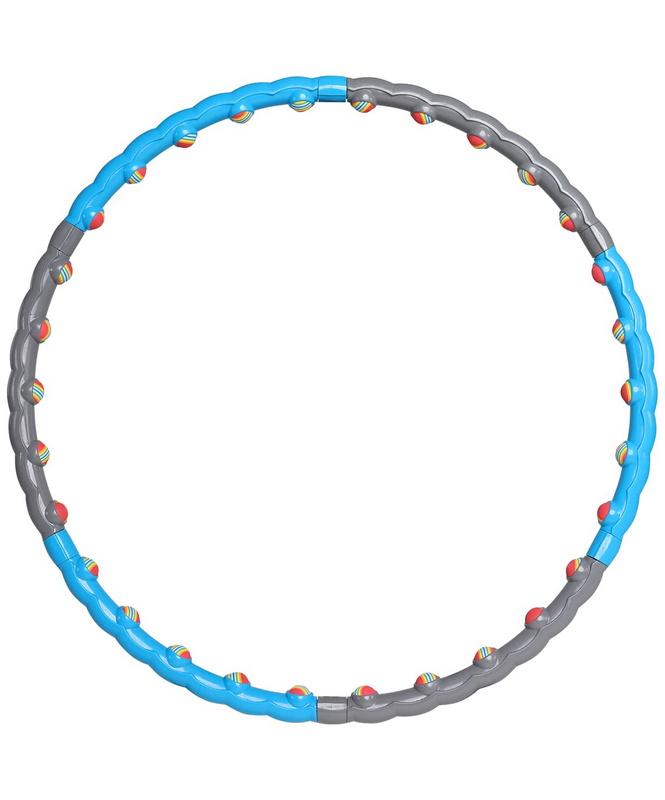 Обруч массажный разборный Star Fit HH-108, синий/серый