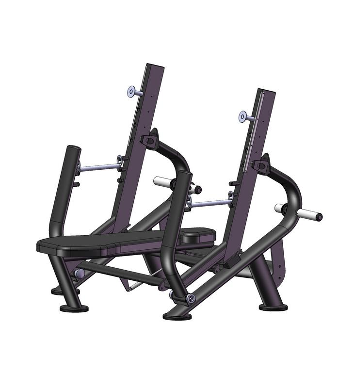 Купить Олимпийская скамья с ограничителями и регулировкой наклона стоек Vertex ЕFB 102,