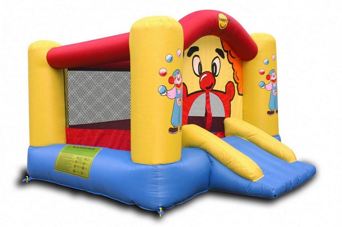 Детский надувной батут с горкой Happy Hop Веселый Клоун 9201
