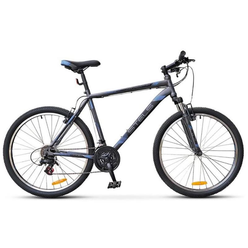 Купить Велосипед Stels Navigator 500 V V020 2017 АнтрацитовыйСиний 26Ø (LU082391),