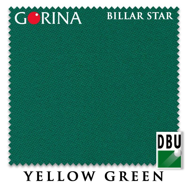 Купить Сукно Gorina Billar Star 197см Yellow Green 60М,
