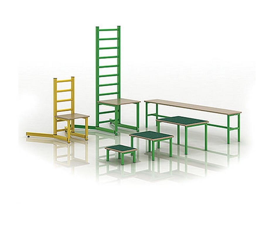 Купить Набор оборудования для ЛФК (стул, скамейка, скамейки-вкладыши) Dinamika ZSO-002435,