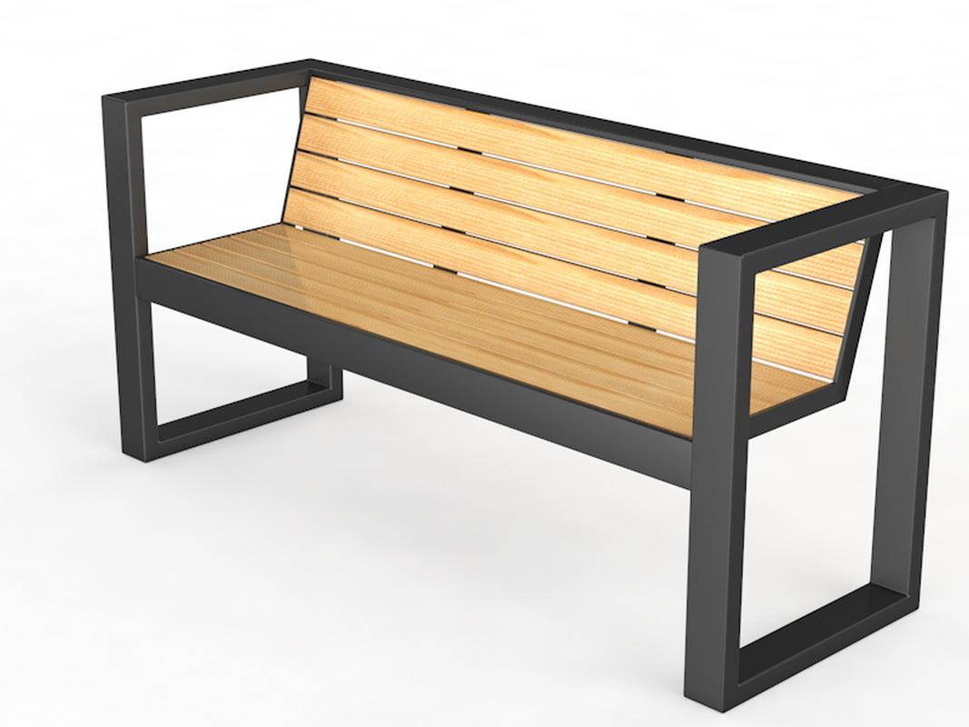 Купить Уличная скамейка со спинкой Квадрат Glav 14.6.1000,