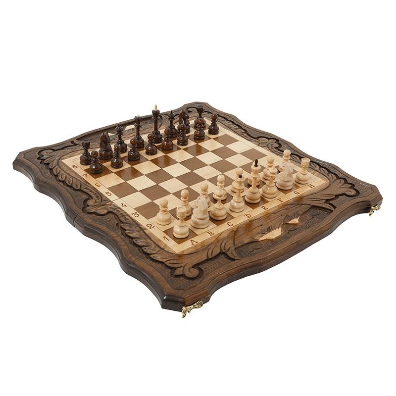 Шахматы + нарды резные c Араратом Haleyan 50