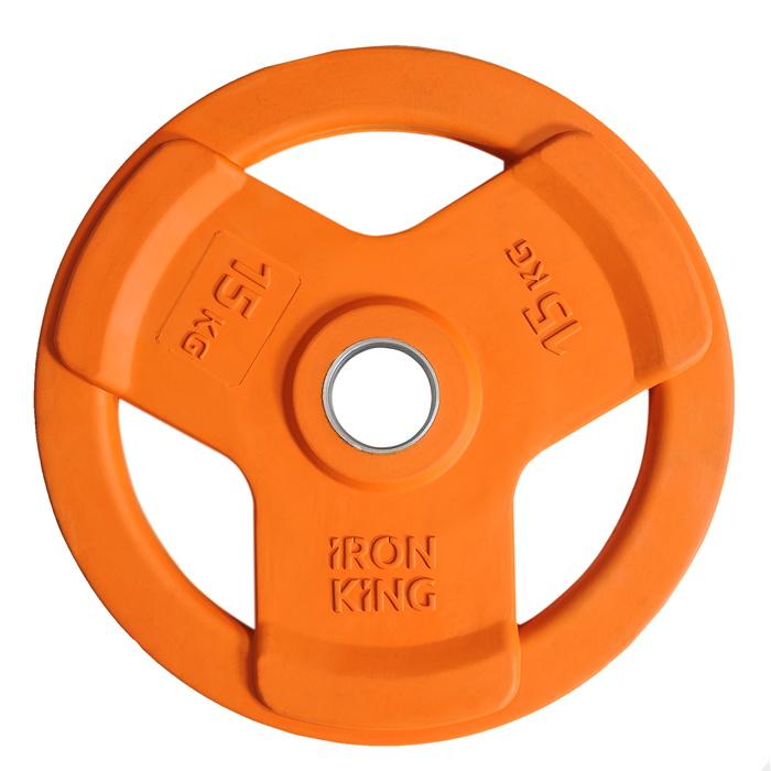 Купить Диск обрезиненный Iron King D50 мм 15 кг цветной,