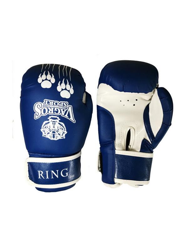 Купить Боксерские перчатки Vagro Sport Ring RS808, 8oz, синий,