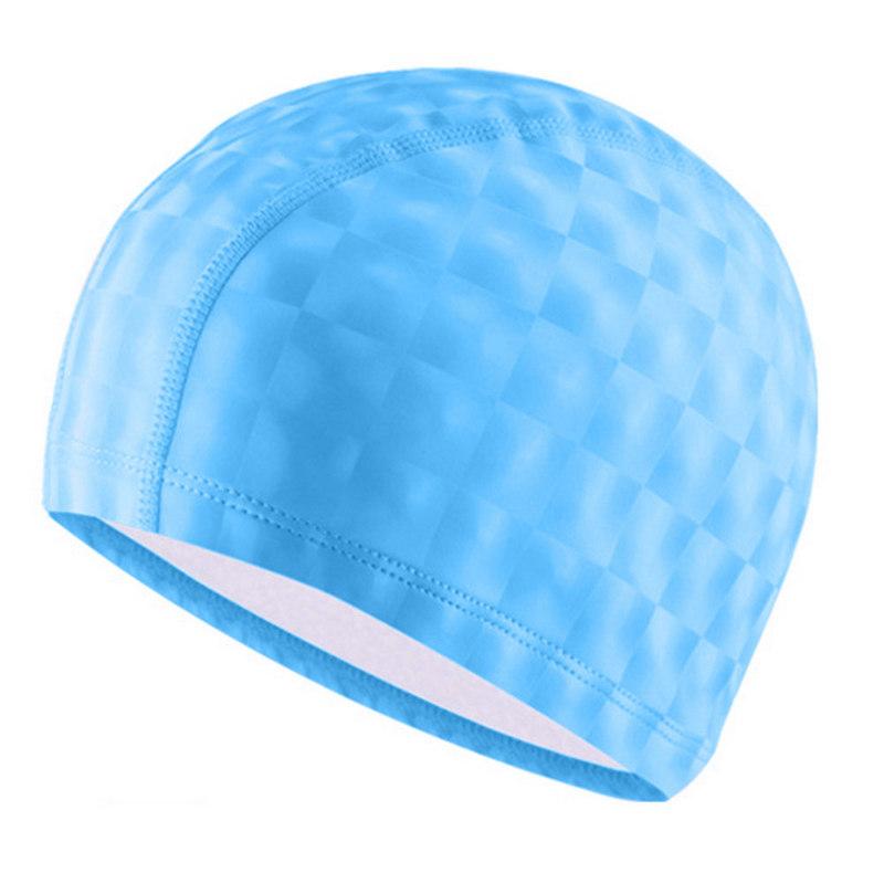 Купить Шапочка для бассейна F11840 ПУ (голубой), NoBrand