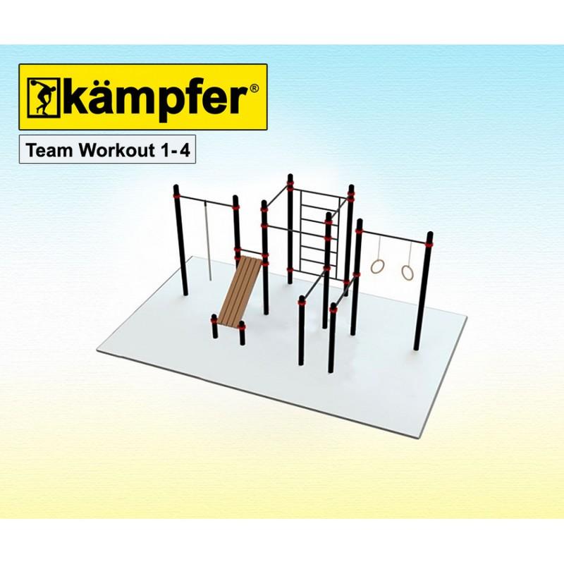 Воркаут площадка Kampfer Team Workout 1-4 от Дом Спорта