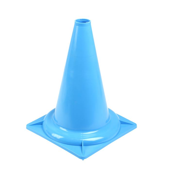 Конус сигнальный У831 (голубой) 35 см