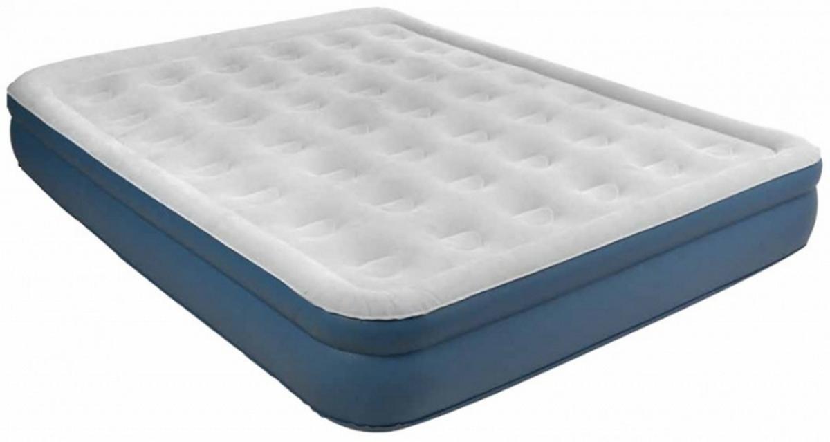 Кровать со встроенным эл. насосом Relax High Raised Air Bed Twin 195x94x38см светло-серый 27275EU надувная мебель relax кровать надувная со встроенным эл насосом high raised air bed queen