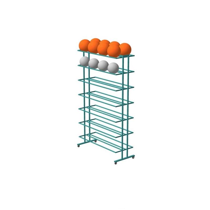Купить Стеллаж для хранения мячей двухсторонний/металл М843, Ellada