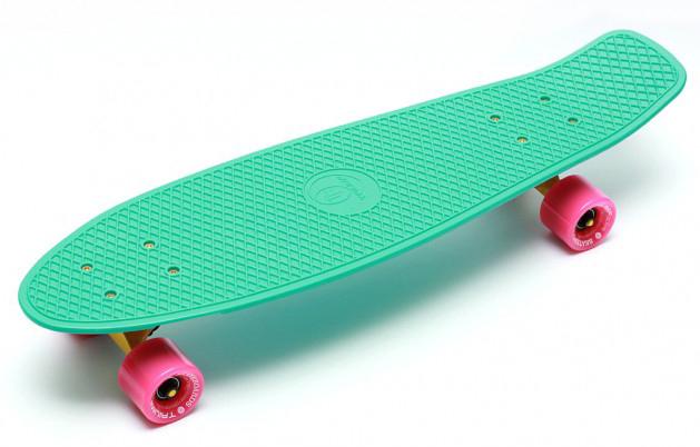 Купить Скейтборд Triumf Active TLS-402 мятный с розовыми колесами 27 во5505,