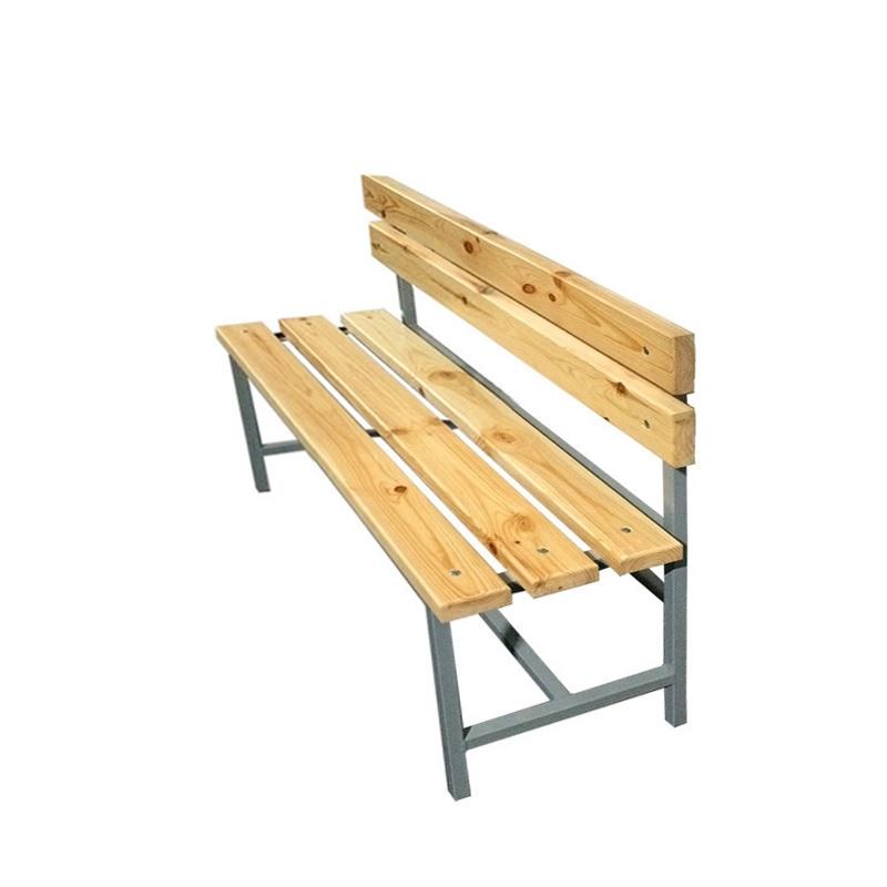 Купить Скамейка для раздевалки со спинкой 1200 мм сиденье из дерева Dinamika ZSO-002184,