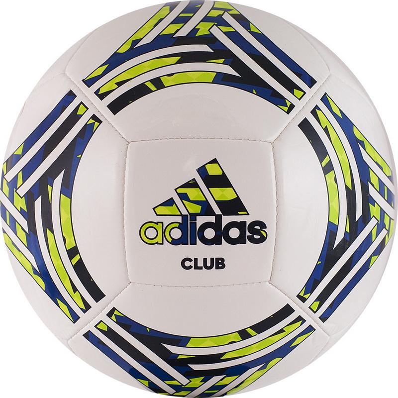 Купить Мяч футбольный Adidas Tango Club GH0065 р.5 бело-сине-зеленый,