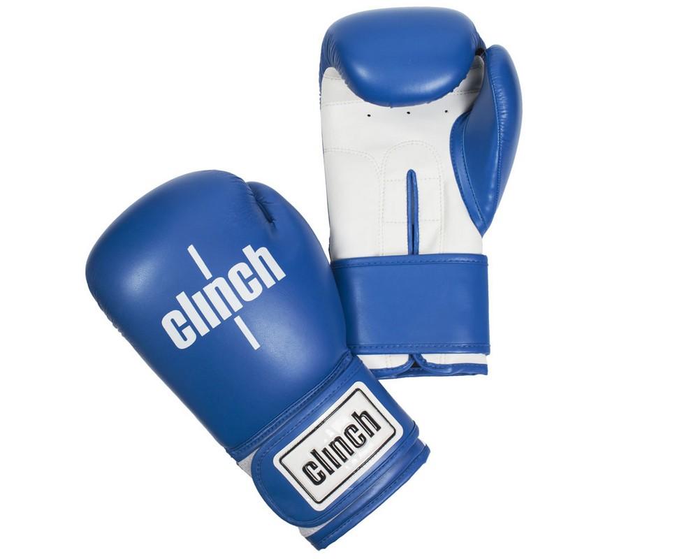 Перчатки боксерские Clinch Fight сине-белые C133