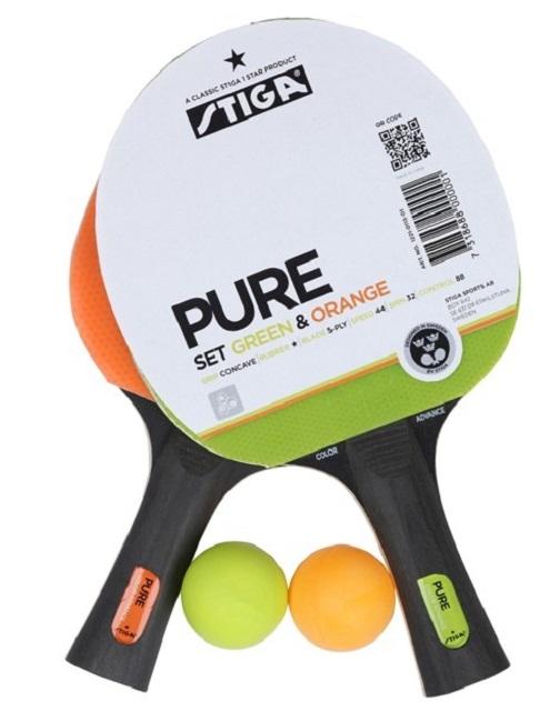 Набор для настольного тенниса Stiga Pure 2 ракетки + 2 мяча кастрюля taller tr 1083