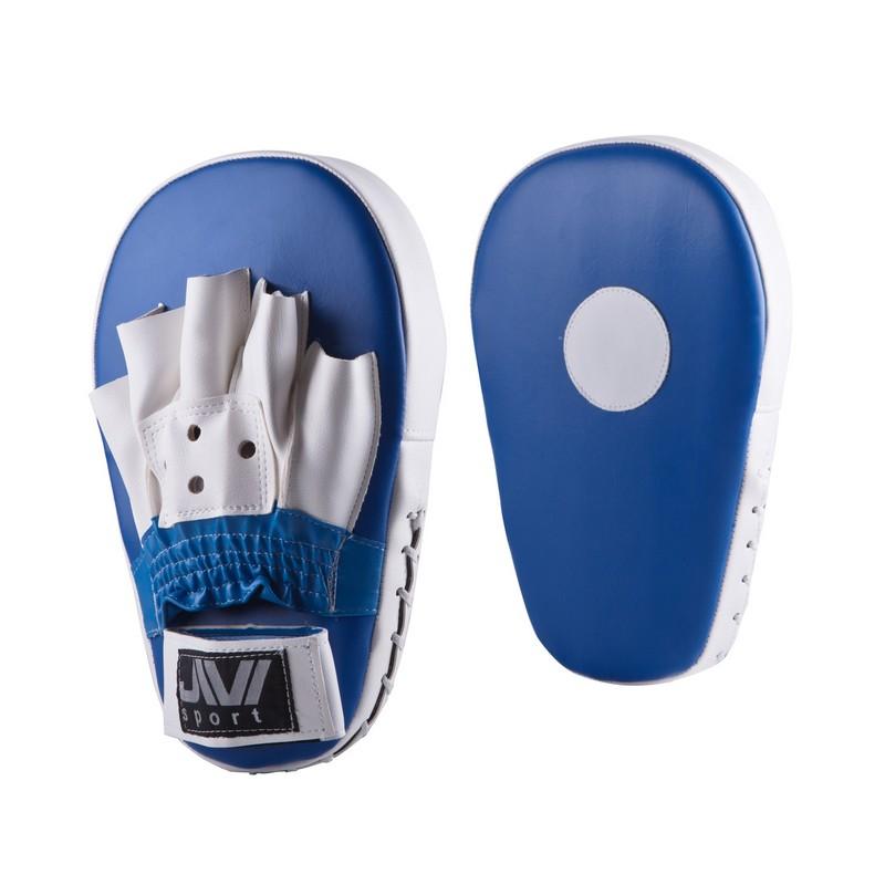 Лапы боксерские прямые JIVIsport Е047 сине-белые лапы вверх cdmp3