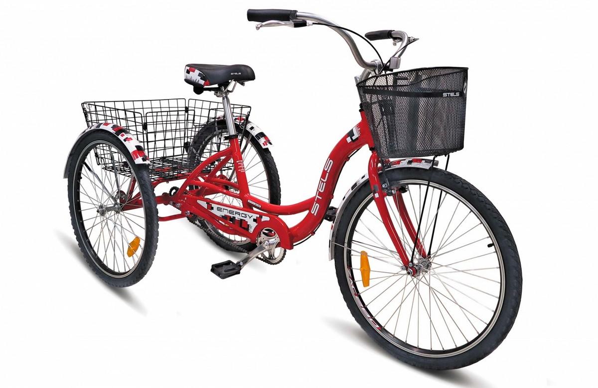 Купить Велосипед Stels Energy I 26 V020 2017 КрасныйБелый (с корзиной) (LU085324),