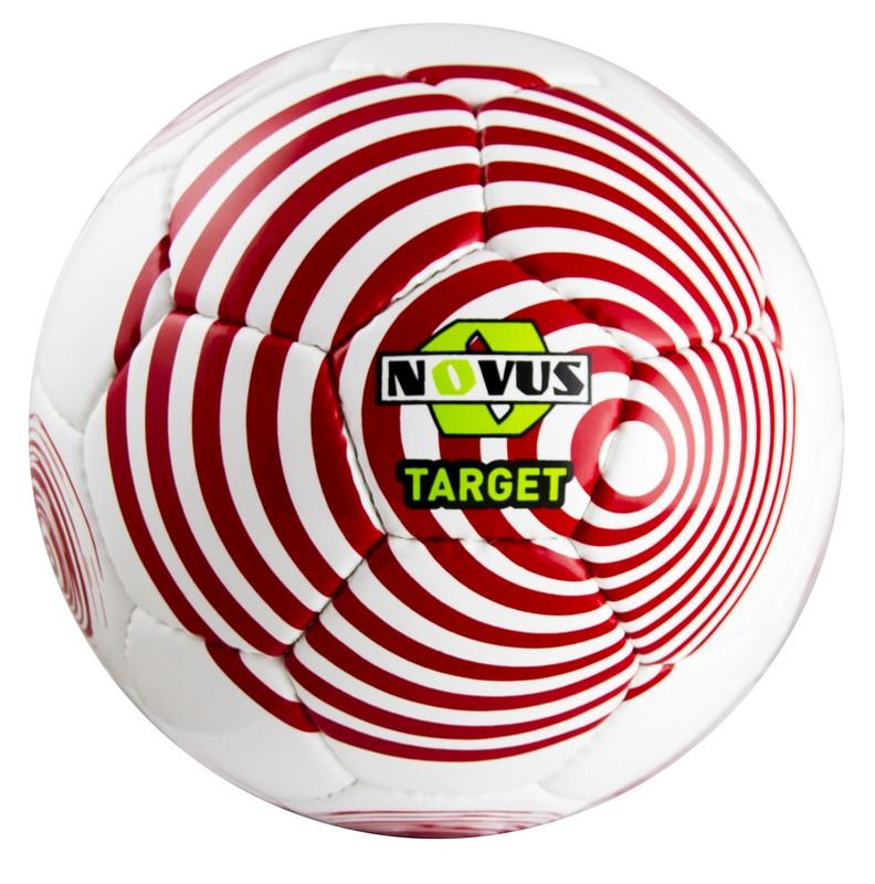 Купить Мяч футбольный Novus Target р.5 бело-красный,