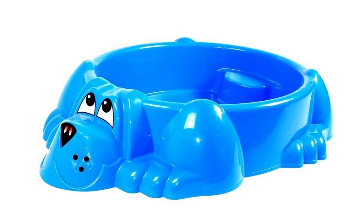 Песочница-бассейн PalPlay Собачка 373 голубой