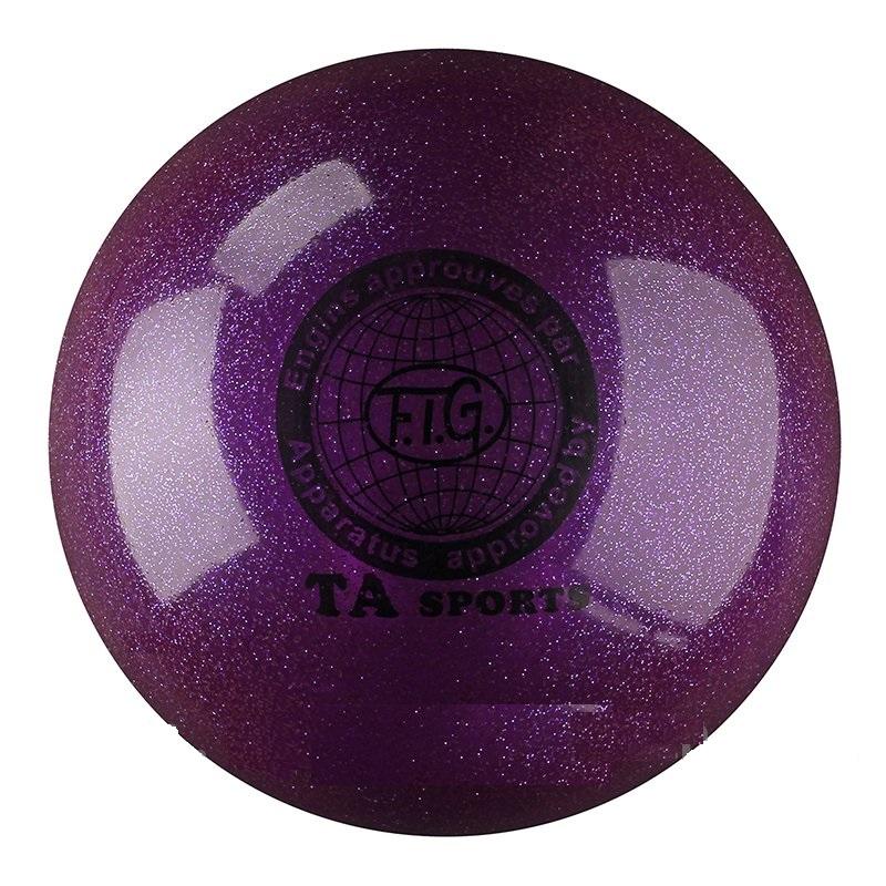 Купить Мяч для художественной гимнастики Indigo D=19 см (с блестками) фиолетовый,