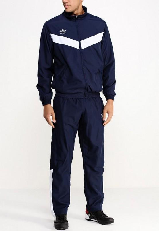 Костюм спортивный Umbro Unity Lined Suit мужской 463015 (991) т.син/бел.