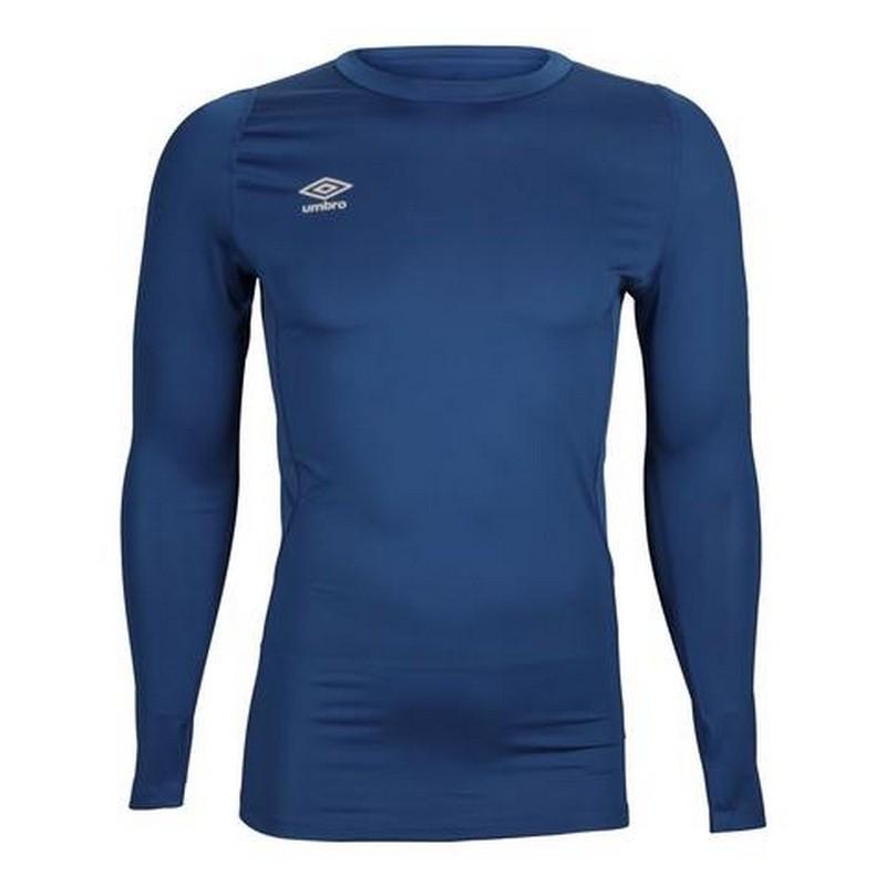Футболка тренировочная Umbro Fw Ls Crew Baselayr с длинным рукавом (Y70) т.синяя