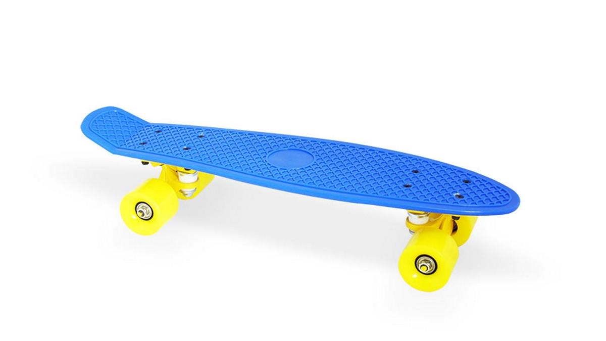 Скейт пластиковый 22х6 quot; Moove Fun PP2206-1 navy blue скейт пластиковый 22х6 quot moove fun pp2206 1 yellow