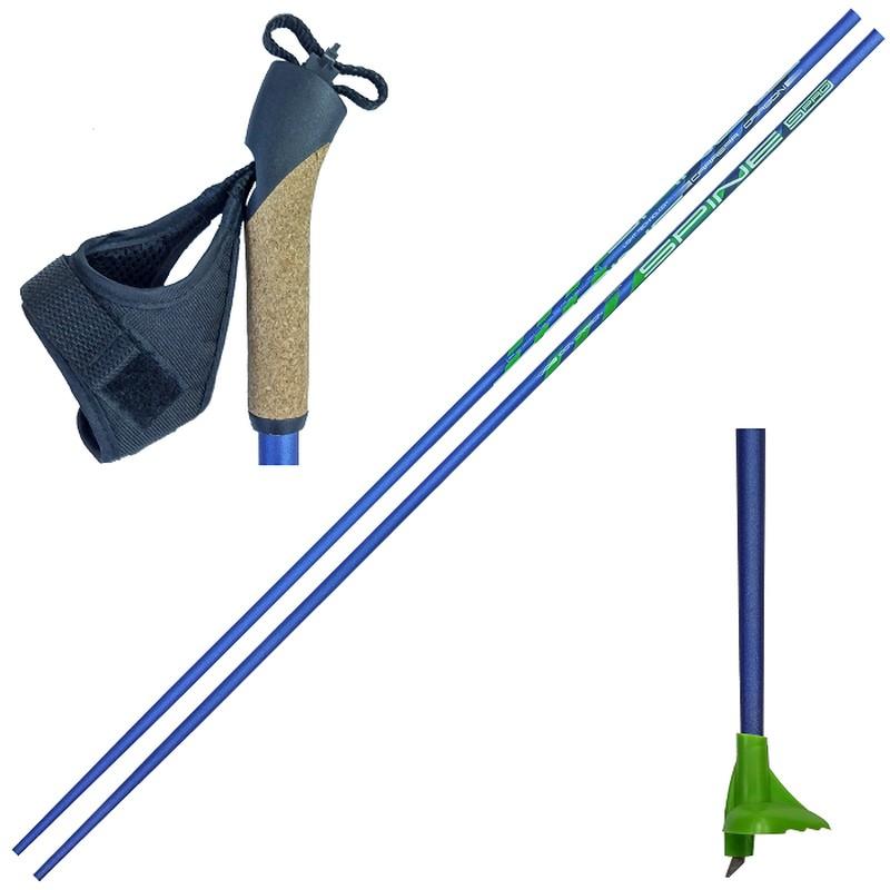 Купить Лыжные палки Spine Carrera Carbon Карбон 100% 10016 синий,