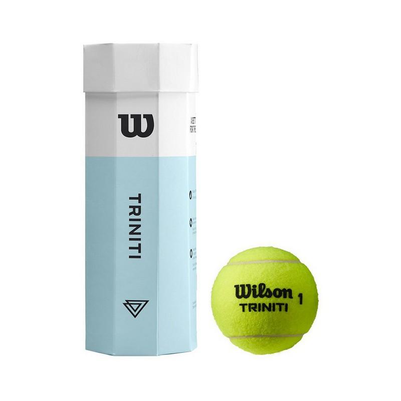 Купить Мяч теннисный Wilson Triniti WRT125200 3 мяча, голубо-белый,