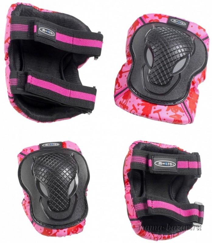 Комплект защиты Micro Knee and Elbow Pads Pink