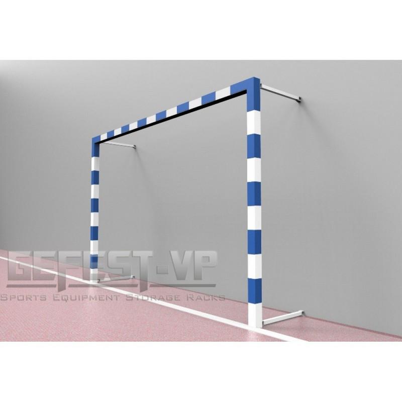 Купить Ворота для мини-футбола, стальные, пристенные Gefest СПР-382 (500x200) пара,