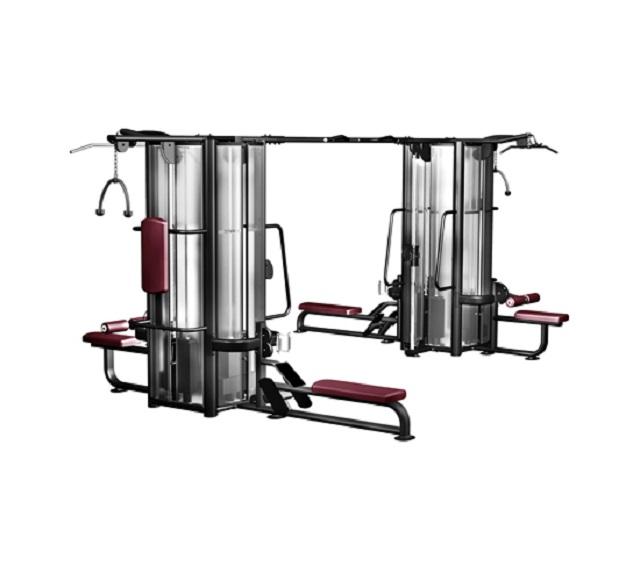 Мультистанция с 8 весовыми стеками Kraft Fitness KFMJ8 регулируемая скамья kraft fitness kffiuby