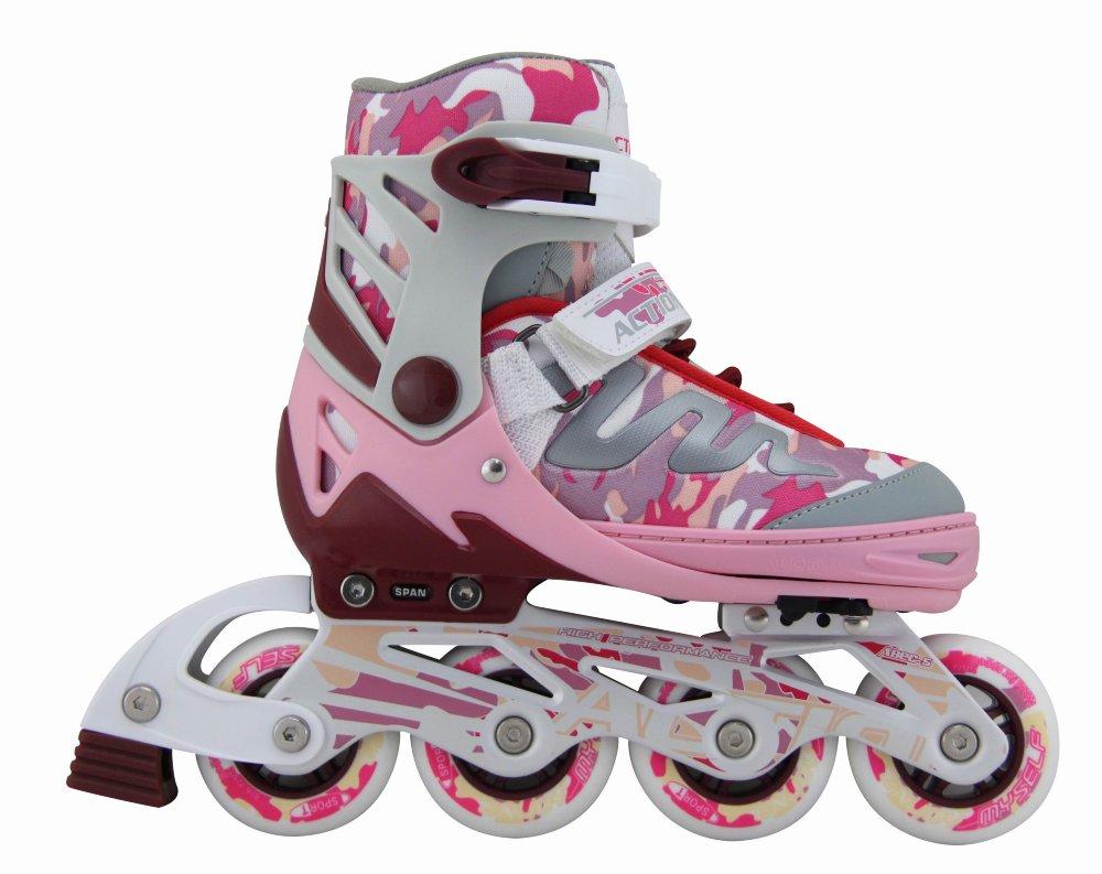 Купить Коньки роликовые Action PW-900 раздвижные, розовые,