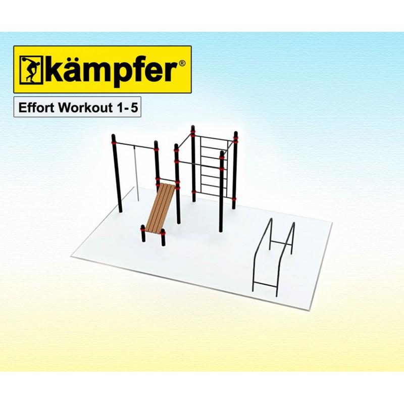 Воркаут площадка Kampfer Effort Workout 1-5 от Дом Спорта