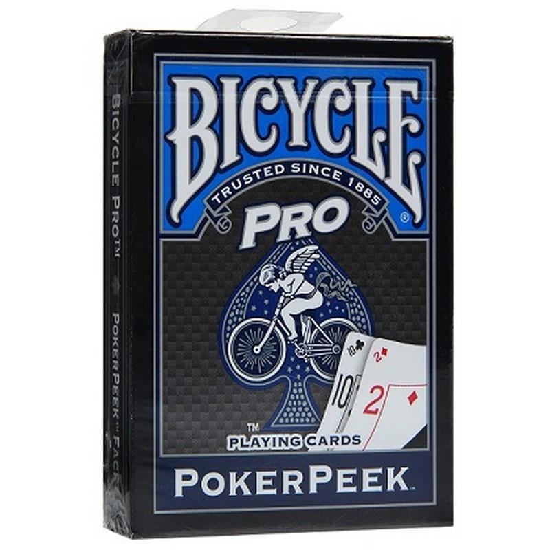 Карты Bicycle Pro синяя рубашка