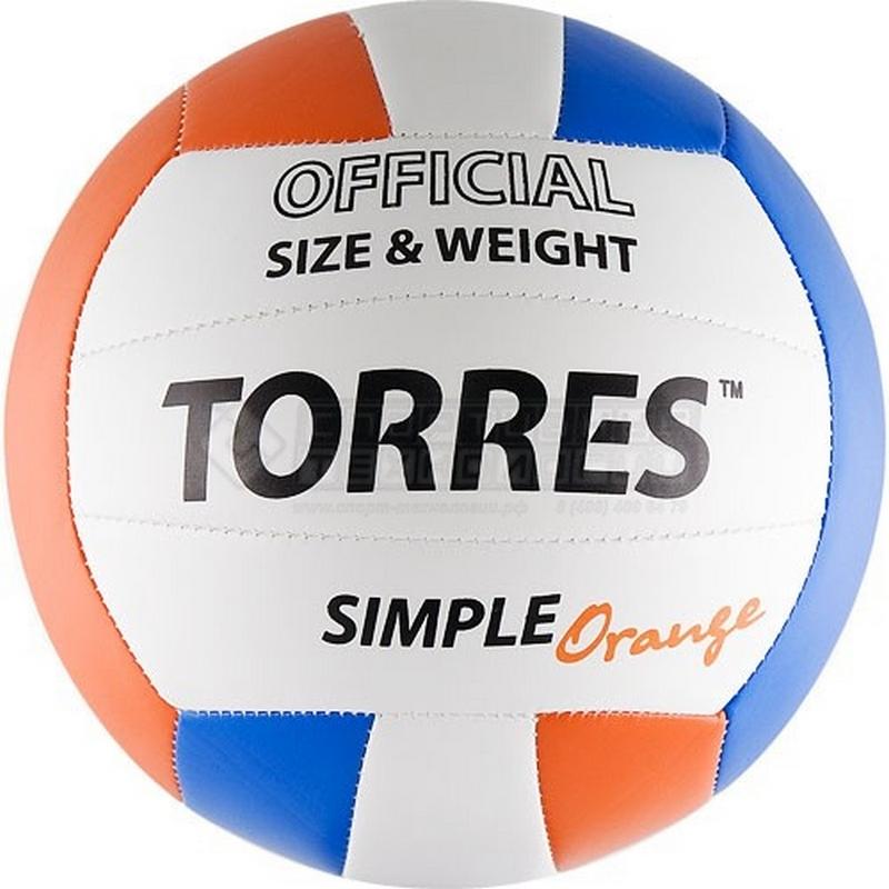 Волейбольный мяч Torres Simple Orange V30125 р.5