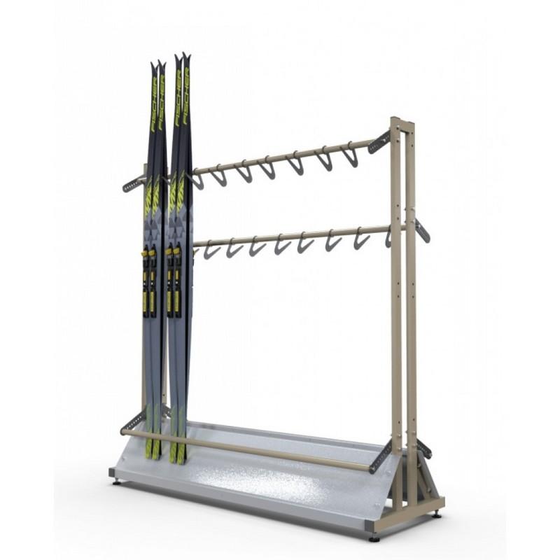 Купить Стойка «Стандарт» для беговых лыж на 56 пар с вешалкой лыжных палок (д) Gefest 160х155х50,