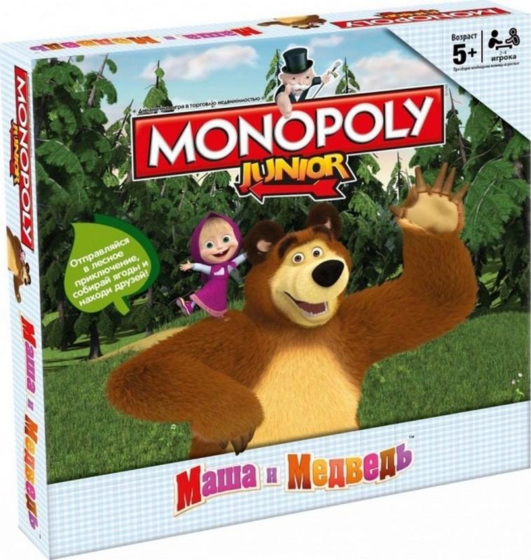 Купить Настольная игра Hasbro Монополия Junior. Маша и Медведь В94431210, Настольные игры