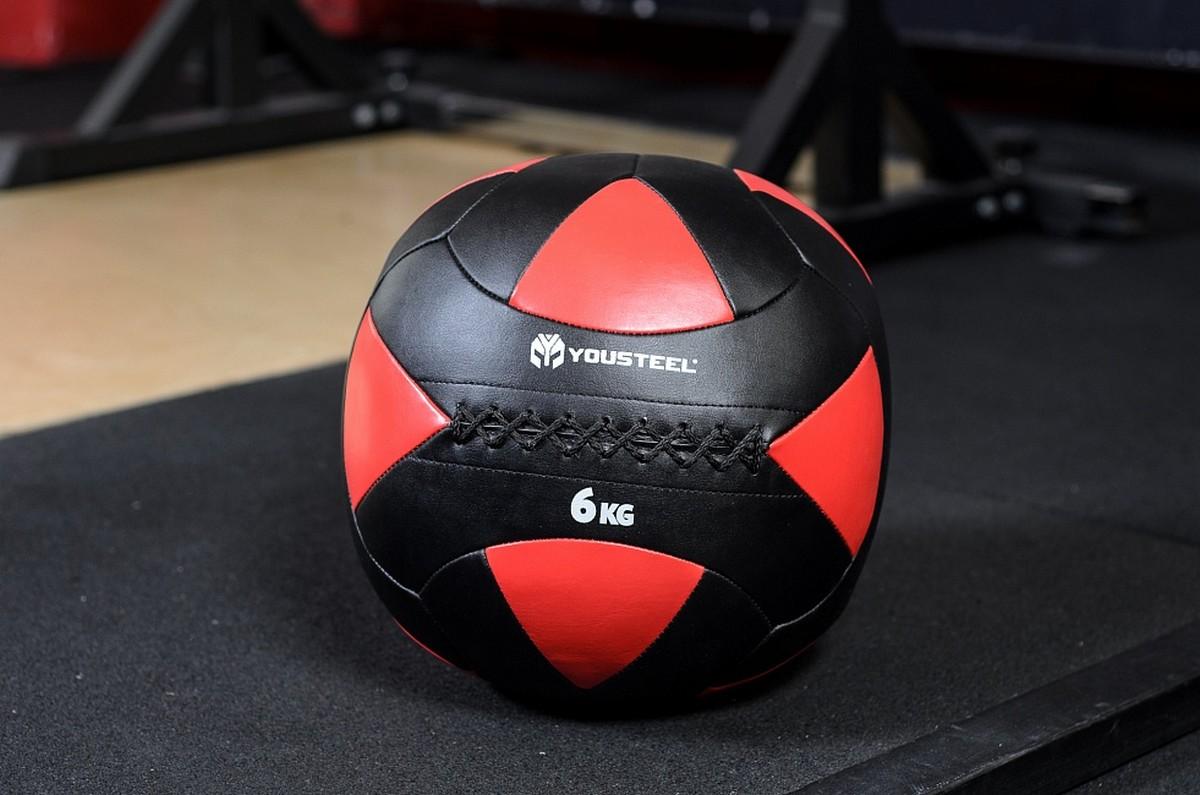 Медицинский мяч YouSteel Wallball 6 кг медицинский мяч body solid bstmb 13 6кг черный