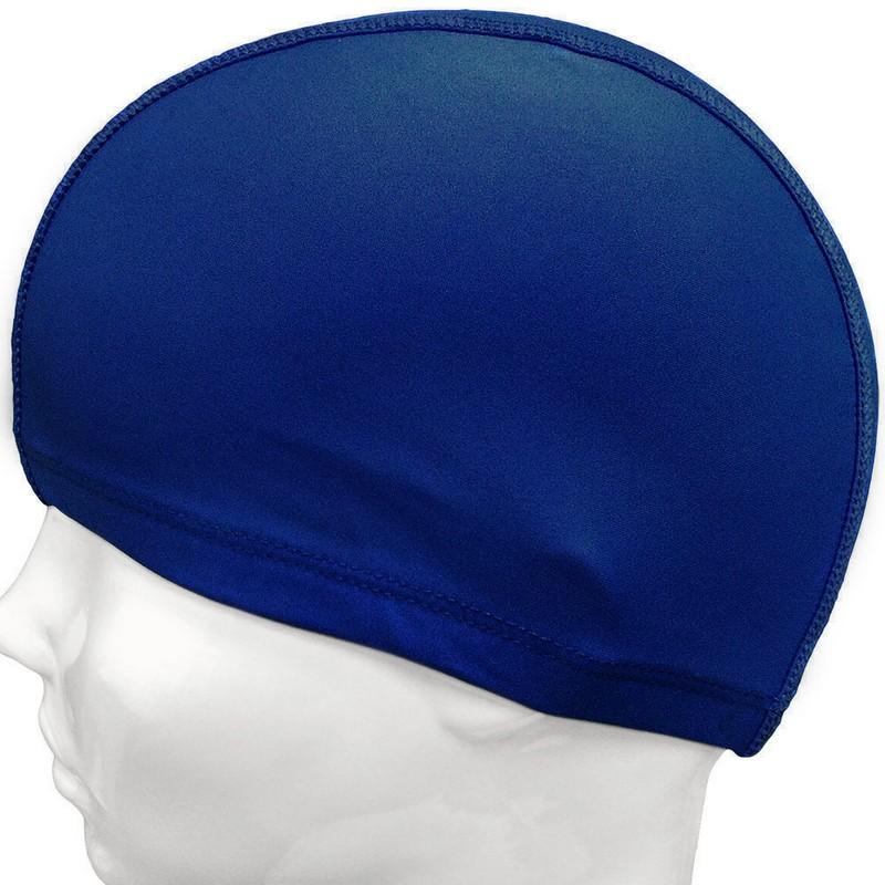 Купить Шапочка для плавания текстильная C33568-6 темно-синяя, NoBrand