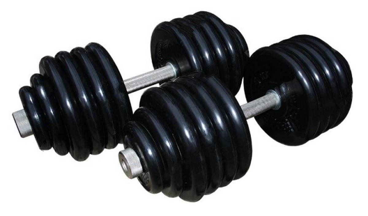 Купить Гантели ProfiGym обрезиненные, 50 кг в наборе, пара (26 или 31 мм),