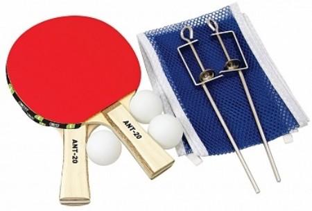 Набор для настольного тенниса Novus atr-20 2 ракетки+3 мяча+сетка сетка для мини тенниса