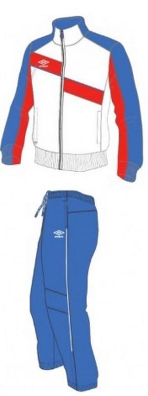Костюм спортивный Umbro Derby Lined Suit мужской 460114 (172) бел/син/красн.