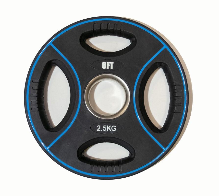 Диск для штанги олимпийский Original Fit.Tools полиуретановый 2,5 кг FT-DPU-2.5