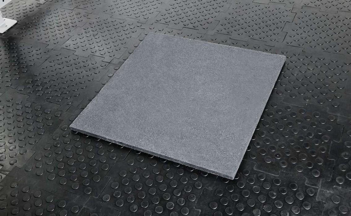 Напольное резиновое покрытие Stecter 1000х1000х30 мм (цвет - серый) 2247 игровые коврики орто пазл напольное покрытие микс базовый