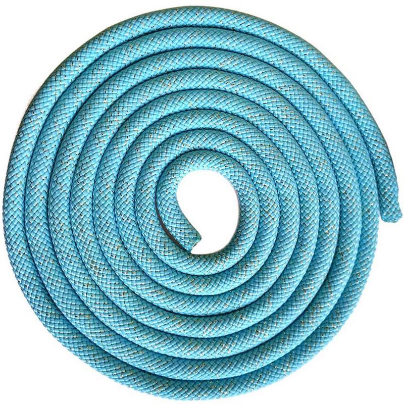 Купить Скакалка для художественной гимнастики 3 м Pro SKG10-13 голубой с блестками, NoBrand