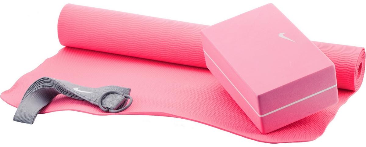 Набор для йоги Nike Essential Yoga Kit N.YE.13.610 OS. коврик для йоги 173х61х0 7 см серый hkem1205 07 grey