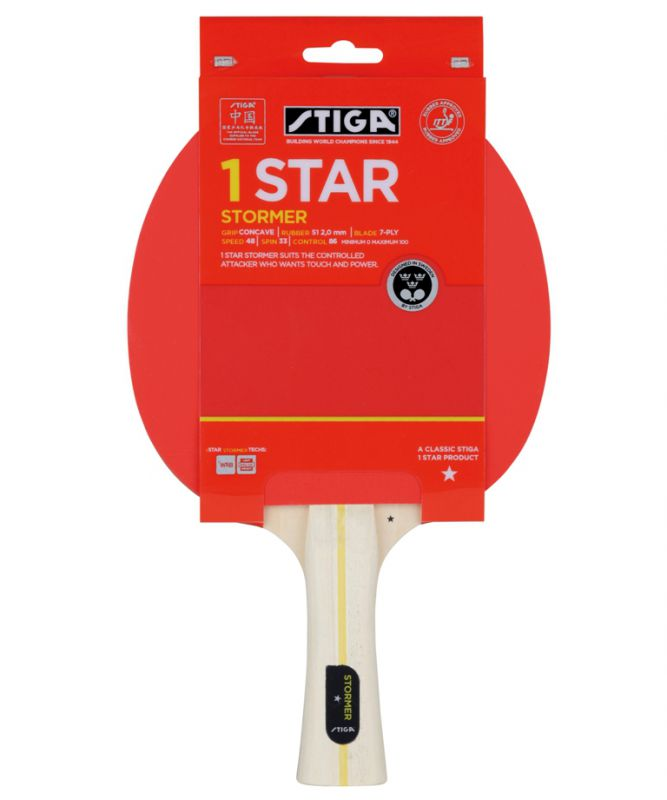 Ракетка для настольного тенниса Stiga Stormer WRB 1723-01 ракетка для настольного тенниса stiga impulse tube цвет красный