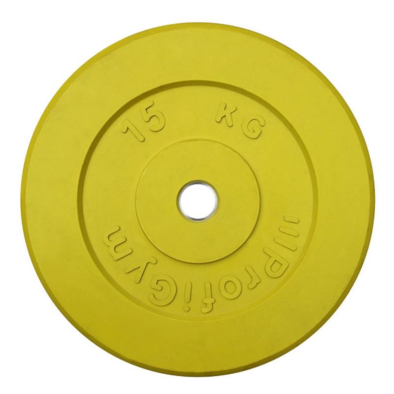 Диск обрезиненный ProfiGym D=31 мм жёлтый 15,0 кг ДТРЦ-15/31 от Дом Спорта